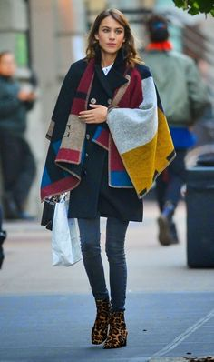 Alexa Chung Shows off Cosy Winter Style in NYC