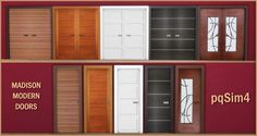 Sims 4 CC's - The Best: Madison Modern Doors by pqSim4