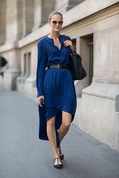 Paris Spring Street Style 2014 - this colour is RIDICULOUS! DREAMY silk/satin!