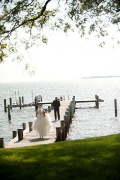 Waterfront Wedding First Look Colorful Wedding on the Chesapeake Bay: Ellen + Brad Boat Wedding, Nautical Wedding, Summer Wedding, Dream Wedding, Wedding Stuff, Cute Wedding Ideas, Wedding Pictures, Navy Bridal Parties, Wedding First Look