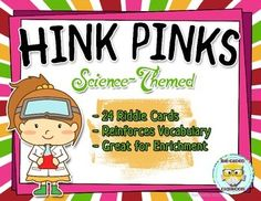 These science-themed Hink Pink riddles are a great way to develop your students vocabulary skills, improve their knowledge of synonyms, and challenge them to think critically.