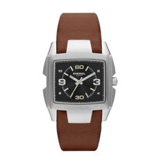 7375f0716735 Diesel Unisex Bug Out Brown Leather Strap Watch