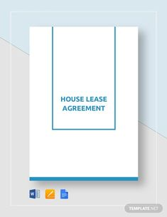 House Rental Agreement Template - Word (DOC)   Google Docs   Apple (MAC) Apple (MAC) Pages   Template.net Rental Agreement Templates, Three Bedroom House, The Tenant, Word Doc, Book Cover Design, Booklet, Bar Chart, House Template, Irish People