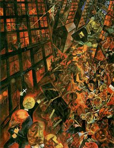 George Grosz, 1893-1959, Berlin, Germany, The Funeral (Dedicated to Oskar Panizza), c. 1918. The Hanging Judge of Art