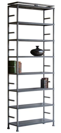 Custom Designed, Hand Made Solid Steel Shelves - Dering Hall