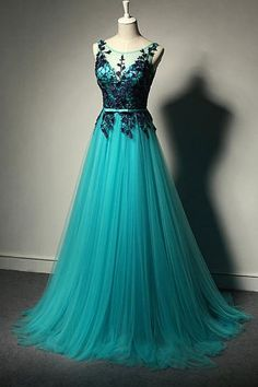 Simple Prom Dresses, new fashion prom dresses blue prom dress tulle formal gown lace prom dresses black evening gowns tulle formal gown for teens LBridal Elegant Prom Dresses, Backless Prom Dresses, A Line Prom Dresses, Prom Dresses Online, Homecoming Dresses, Party Dresses, Prom Gowns, Dresses Dresses, Occasion Dresses