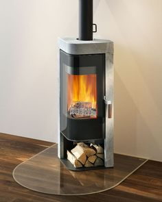 Contemporary wood-burning stove (soapstone) - JAZZ - Rika