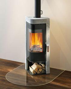 Contemporary wood-burning stove (soapstone) - JAZZ - Rika