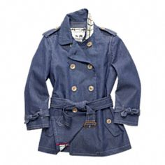 Coach Alexis Short Denim Trench-A denim trench, I'll take it!