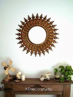 #vintage sun mirror, espejo sol dorado compralo: http://www.tiendavintageonline.com/2013/11/venta-espejos-sol-dorados.html