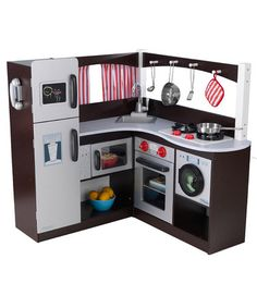 Take a look at this Corner Kitchen by Toy Kitchen Collection on #zulily today!  They have other smaller ones too. I would totally buy this one if my girls didn't have one already.