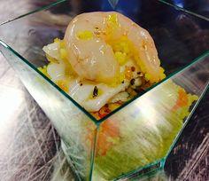 Cuscus di verdure allo zafferano con crudo di mare   Food Loft - Il sito web ufficiale di Simone Rugiati
