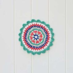 Red Agape Style and Design created the Mandy Mandala, a free #crochet mandala pattern that immediately become popular. She also created a variation called the Mega Mandala Cushion Pattern, a free pattern to dress up your home mandala style!