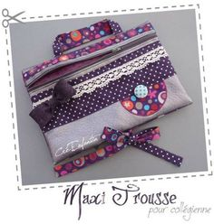 So pretty make-up bag... Maxi-trousse pour Collégienne.  Avril 2012
