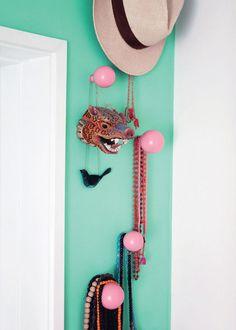 L'appartement coloré de la graphiste Sabine Brandt à Copenhague