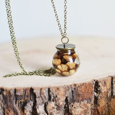 Pinecone necklace resin jewelry, nature necklace, gift under 45, woodland necklace, by EightAcorns on Etsy https://www.etsy.com/ca/listing/108209611/pinecone-necklace-resin-jewelry-nature