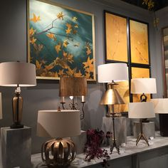"""Table lamps representing """"mixed metals"""" from The Natural Light.  #TheNaturalLight #tablelamps"""