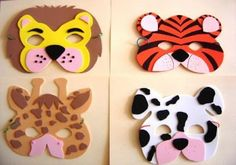Tinker with animal masks! 8 patterns to print! Foam Crafts, Diy And Crafts, Paper Crafts, Diy For Kids, Crafts For Kids, Carnival Masks, Mask For Kids, Diy Mask, Crowns