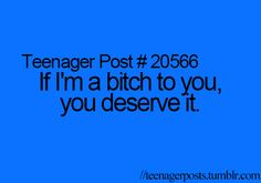 yup , i don't act like that to just  anyone ! feel special (:
