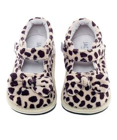 Look what I found on #zulily! Brown & Cream Leopard Bow Mary Jane by Jack & Lily #zulilyfinds