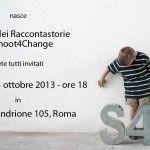 Siete TUTTI invitati all'inaugurazione della Casa dei Raccontastorie di Shoot4Change il 23 ottobre alle 18, a Roma in via del Mandrione 105!