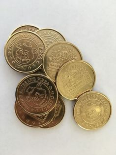 10 FIVE NIGHTS AT FREDDY'S FNAF TOKEN COINS Party Favor BRASS in Home & Garden, Greeting Cards & Party Supply, Party Supplies | eBay