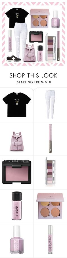 """""""Untitled #112"""" by rainthunderari ❤ liked on Polyvore featuring Grafea, Urban Decay, NARS Cosmetics, Clinique, MAC Cosmetics, Anastasia Beverly Hills, Essie and New Balance"""