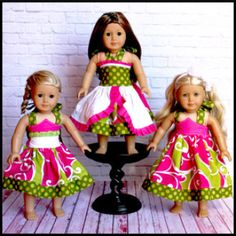 Breeann and Juliet Doll Dress | YouCanMakeThis.com