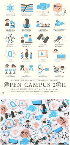 東北大学理学部 オープンキャンパス2012|アカオニデザイン|山形のデザイン事務所|デザイン・ホームページ制作