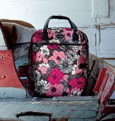 Vera Bradley Sale! 25% off Mocha Rouge Luggage ends July 21! #VeraBradley #eyeonaapp #deals