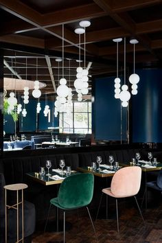 Le Roch Hotel & Spa by Sarah Lavoine Hotel Architecture restaurant furniture Restaurant Interior Design Restaurant Design, Decoration Restaurant, Deco Restaurant, Luxury Restaurant, Hotel Decor, Design Hotel, Hotel Spa, Restaurant Chairs, Hotel Party