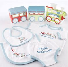 """Precious Cargo"" Four Piece Embroidered Layette Set"
