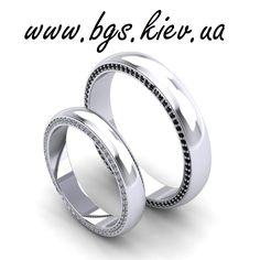 Обручальные кольца из белого золота «Свадебные украшения» с фианитами на заказ (артикул: 1-Бз). Заказать классические ювелирные украшения из белого золота 585, 750 пробы.