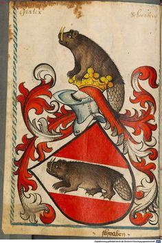 Scheibler'sches Wappenbuch Süddeutschland, um 1450 - 17. Jh. Cod.icon. 312 c  Folio 114
