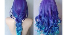 Rock On ✌ hair  #dye -  blue -  braid,  shades