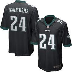 0076ef71a43 Nike Eagles  24 Nnamdi Asomugha Black Alternate Mens NFL Game Jersey And  nfl  jersey