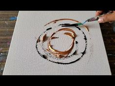 Golden Ring / Abstract Painting Demo in Acrylics / Simple & Relaxing / Daily Art Therapy / Day Abstract Painting Easy, Abstract Painting Techniques, Diy Painting, Knife Painting, Abstract Art, Acrylic Pouring Art, Acrylic Art, Acrylic Paintings, African Paintings