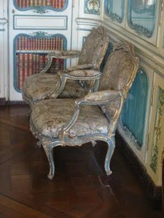 Rococo style chairs.... for the Tea Parlour!  I love them.....