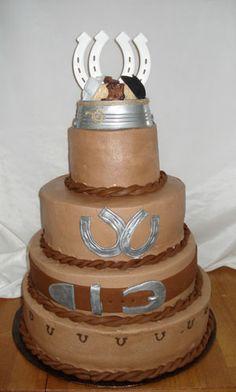 Country western wedding cake