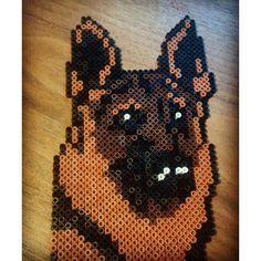 German shepherd dog hama beads