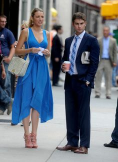 Gossip Girl Set - Blake Lively and Chace Crawford