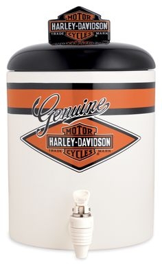 96887-13V - Harley-Davidson® Ceramic with Nostalgic Graphic Beverage Dispenser - Barnett Harley-Davidson® $40
