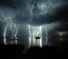 Lightning over Tampa Bay