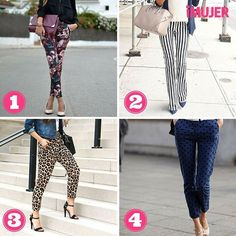 Los pantalones estampados son perfectos para cualquier ocasión, ¿cuál de estos modelos te gusta más? #inspirandoMujeres #iMujer #moda