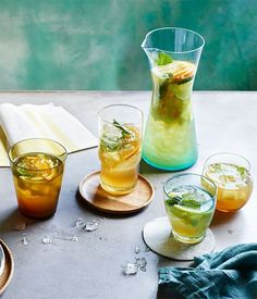 Pineapple, mint, ginger and lime crush.