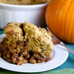Seasonal Pumpkin Maple Cornbread Baked Bean Casserole (Gluten-Free ...
