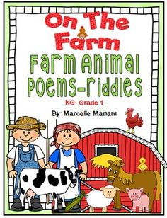 This freebie includes a set of 7 riddles-poems which I wrote when I was teaching… Animal Riddles, Animal Poems, Rhyming Riddles, Farm Activities, Language Activities, Preschool Farm, Preschool Learning, Farm Lessons, Farm Unit
