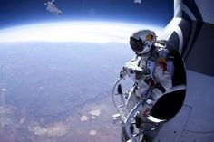 Skydiver, Felix Baumgartner, From 13 Miles Up Proves Red Bull May Hinder Human Survival Instinct Felix Baumgartner, Cristiano Ronaldo, Red Bull, Survival Instinct, Need A Vacation, Skydiving, Extreme Sports, Stunts, All About Time