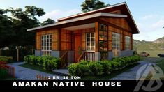 AMAKAN NATIVE HOUSE | 2 BEDROOM 36 SQM. HALF CONCRETE DESIGN | ARKIPEACE Modern Small House Design, Bahay Kubo, Safe Haven, Boho Living Room, Concrete Design, House 2, Nativity, Sweet Home, Cabin