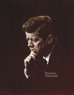 : View Portrait of President John F. Kennedy by Norman Rockwell on artnet. Browse upcoming and past auction lots by Norman Rockwell. Norman Rockwell Prints, Norman Rockwell Paintings, Peintures Norman Rockwell, John F Kennedy, Wall Canvas, Clip Art, American Artists, Illustrations, American History